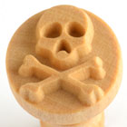 MKM Skull & Crossbones 2.5cm wood stamp