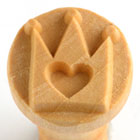 MKM Crown Heart 2.5cm wood stamp
