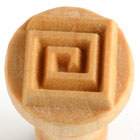 MKM Spiral Square 2.5cm wood stamp