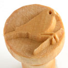 MKM Pirched Bird 2.5cm wood stamp