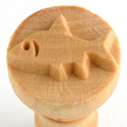 MKM Shark 2.5cm wood stamp