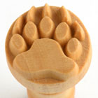 MKM Bear Paw 2.5cm wood stamp