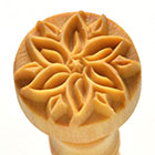 MKM Poinsetta 2.5cm wood stamp