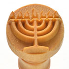 MKM Menorah 2.5cm wood stamp