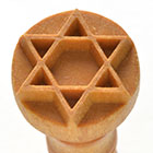 MKM Star of David 2.5cm wood stamp
