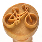 MKM Bicycle 2.5cm wood stamp