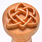 MKM Celtic Heart 2.5cm wood stamp