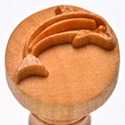 MKM Dolphin 2.5cm wood stamp