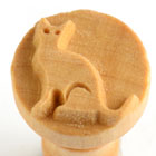 MKM Cat 2.5cm wood stamp