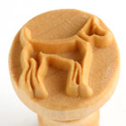 MKM Dog 2.5cm wood stamp