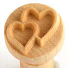 MKM Double Heart 2.5cm wood stamp