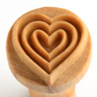 MKM Nestled Hearts 2.5cm wood stamp