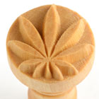 MKM Hemp Leaf 2.5cm wood stamp
