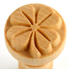 MKM Four Leaf Clover 2.5cm wood stamp