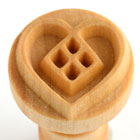 MKM Heart Design 2.5cm wood stamp