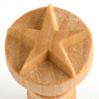 MKM 5 Point Star 2.5cm wood stamp