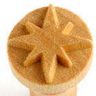 MKM 8 Point Star 2.5cm wood stamp