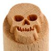 Small image for MKM Skull 1.5cm wood stamp