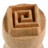 Small image for MKM Square Spiral 1.5cm wood stamp